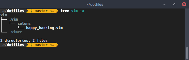 Vim dotfiles directory