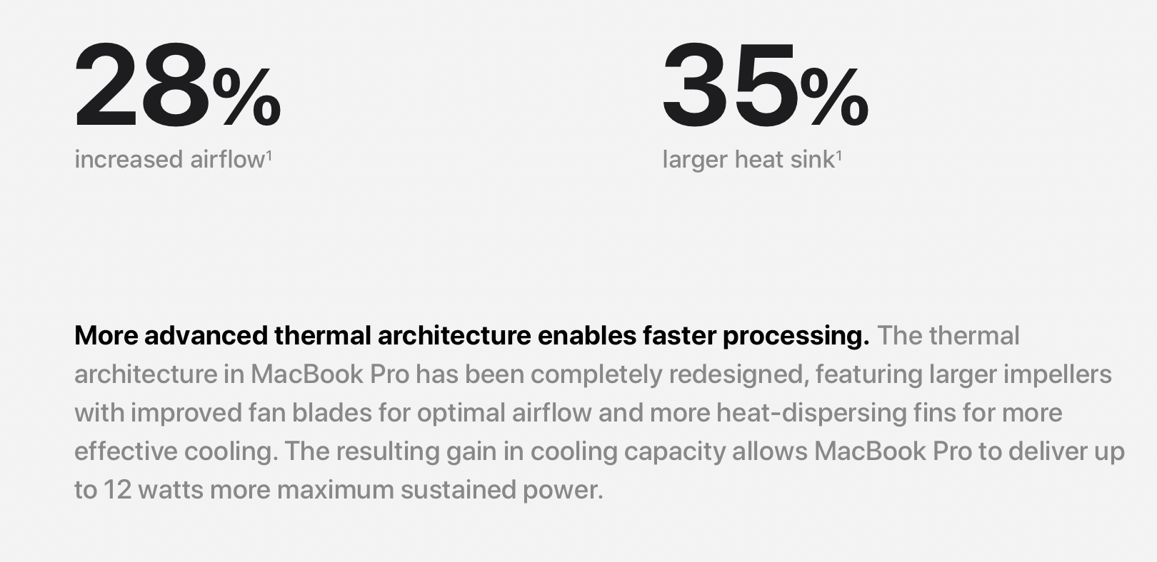 the mbp had better cooling
